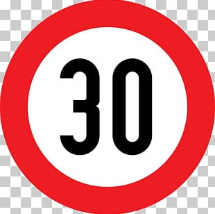 Speed Limit Kilometer Per Hour Traffic Sign 30 Km/h Zone PNG