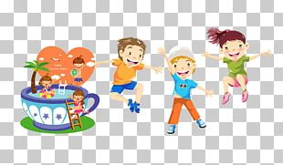 Child Play Jumping Illustration PNG