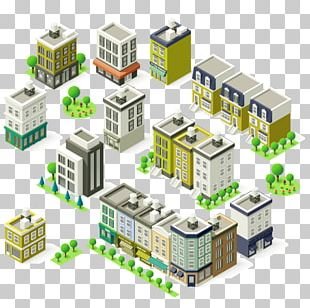 Building Isometric Projection Illustration PNG