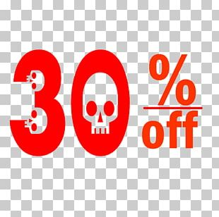 Halloween 30% Discount Tag. PNG