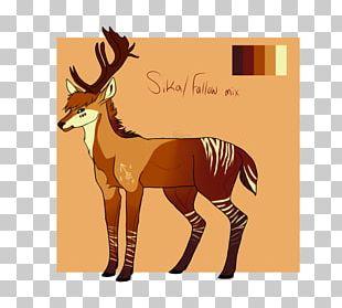 Reindeer Horse Fauna Mammal Antler PNG