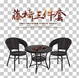 Table Chair Wicker Furniture PNG