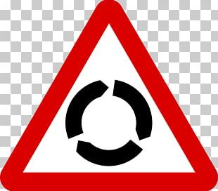 Roundabout Traffic Sign Traffic Circle Warning Sign Driving PNG
