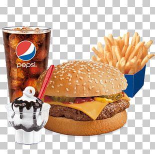 Hamburger Cheeseburger French Fries Veggie Burger Fast Food PNG