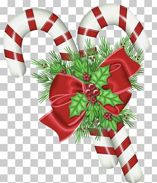 Candy Cane Christmas Santa Claus PNG