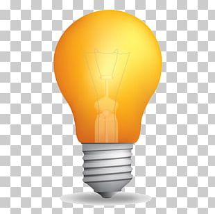 Incandescent Light Bulb Color Icon PNG