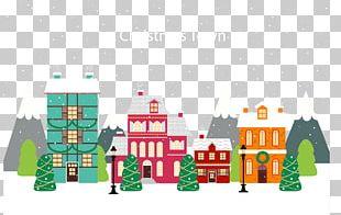 Christmas Village Illustration PNG
