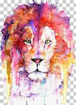 Lion Watercolor Painting Art Printmaking Drawing PNG