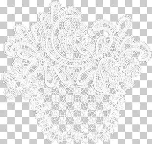 Place Mats Doily White Font PNG