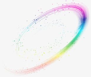 Colorful Magic Dynamic Light Effect PNG