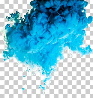 Blue Smoke Cloud PNG
