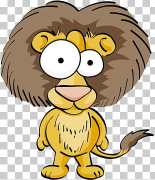 Funny Animal Cartoon Drawing Lion PNG