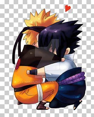 Sasuke Uchiha Hug Naruto Uzumaki Fan Art Love PNG