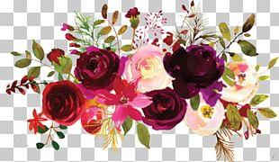 Garden Roses Floral Design Flower Bouquet Burgundy PNG
