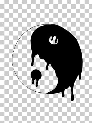 Yin And Yang Black And White Drawing Sticker PNG