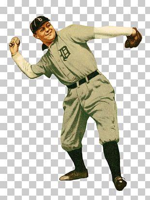 Vintage Base Ball Baseball Player Detroit Tigers Pitcher PNG