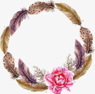 Feather Wreath PNG