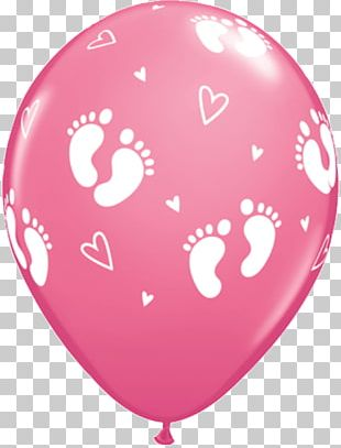 Balloon Baby Shower Gender Reveal Infant Party PNG