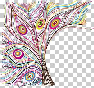 Feather Peafowl Pattern PNG