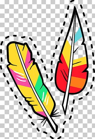 Cartoon Feather PNG
