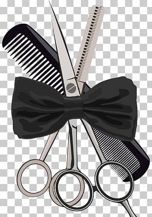 Comb Hairdresser Scissors Beauty Parlour PNG