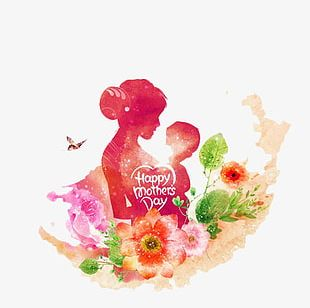 Mother's Day Cartoon Illustration PNG