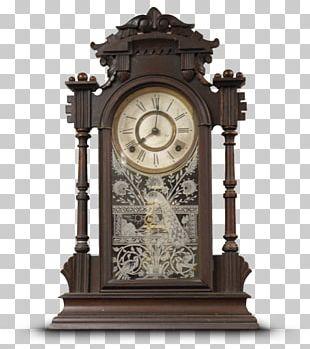 Wall Clock Black/White Tic Toc Shop Antique Furniture PNG