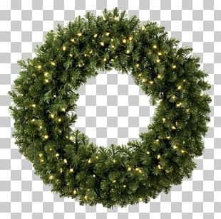 Wreath Christmas Lights Lighting Pre-lit Tree PNG