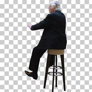 Sitting Bar Chair PNG
