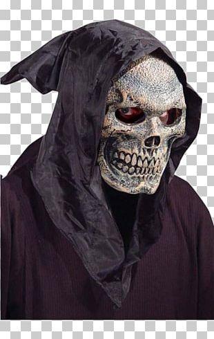 Hood Latex Mask Halloween Costume Death PNG