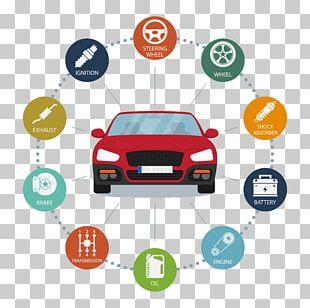 Car Motor Vehicle Service Infographic Maintenance Automobile Repair Shop PNG