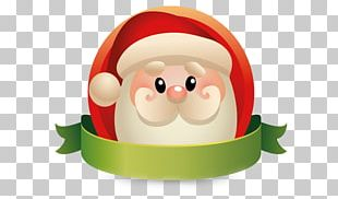 Santa Claus Christmas Flat Design PNG