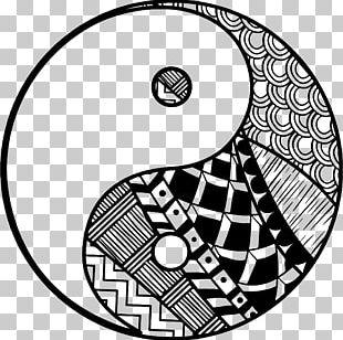 Yin And Yang Coloring Book I Ching Drawing PNG