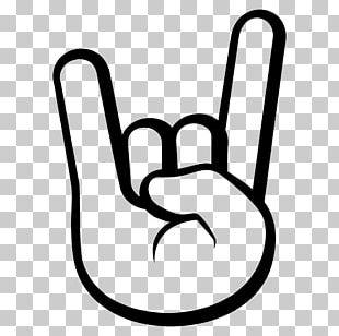 Emoji Sign Of The Horns Emoticon Symbol PNG