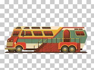 Vintage Car Public Transport Icon PNG