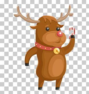 Reindeer Cattle Cartoon Character Illustration PNG