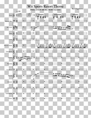 Wii Sports Resort Wii Music Sheet Music PNG