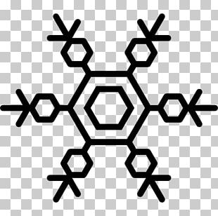 Snowflake Hexagon Shape Freezing PNG