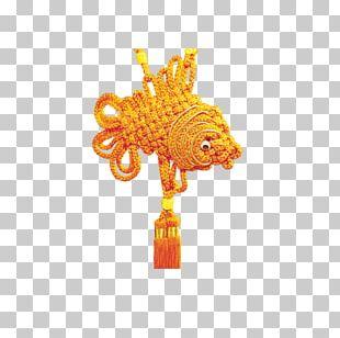 Chinesischer Knoten Gold PNG
