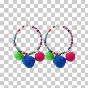 Earring Necklace Bead Pom-pom Jewellery PNG