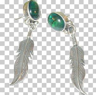 Turquoise Earring Body Jewellery Feather PNG