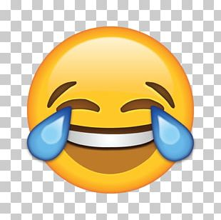 Face With Tears Of Joy Emoji Laughter Crying Sticker PNG
