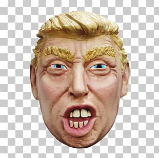 Donald Trump Latex Mask Halloween Costume PNG