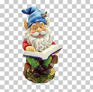 Gnomes Garden Gnome Reading PNG
