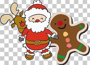 Rudolph Santa Claus Reindeer Christmas Tree PNG