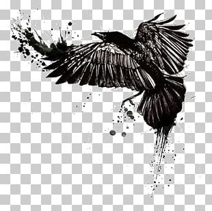Tattoo Ink Sleeve Tattoo Black-and-gray Common Raven PNG