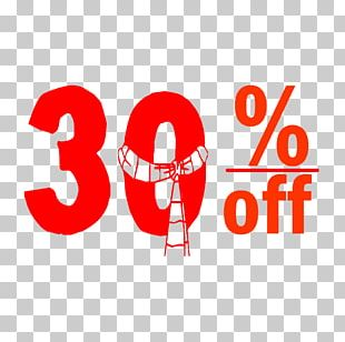 Christmas 30% Discount Tag. PNG