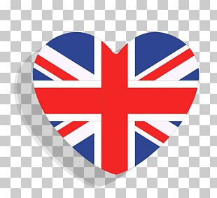 Heart Shaped British Flag PNG