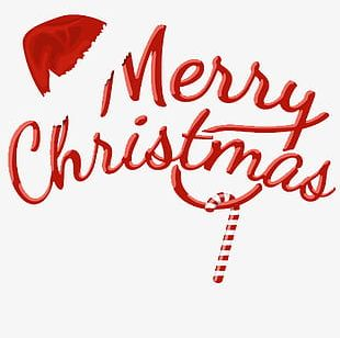 Merry Christmas Text Design PNG