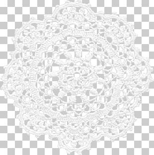Doily White Place Mats Pattern PNG